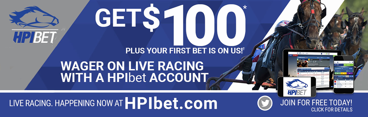 Get $100 plus your first bet is on us! Wager on live racing with a HPIbet account. Live racing. Happening now at HPIbet.com